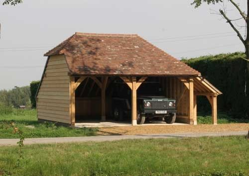 Two Bay Oak Framed Garage Kit Self Build DIY Garages From Chippy Timber Kits