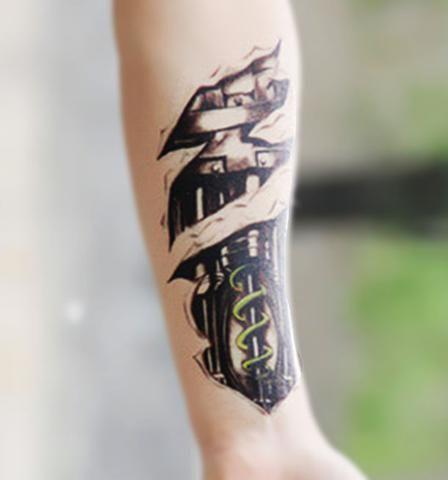 Mechanical Arm Sleeve Temporary Tattoo at MyBodiArt