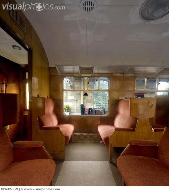 1950s british rail passenger carriage