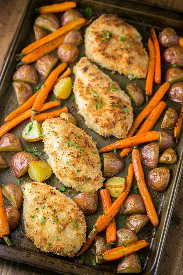 One Pan Chicken And Vegetables Dinner