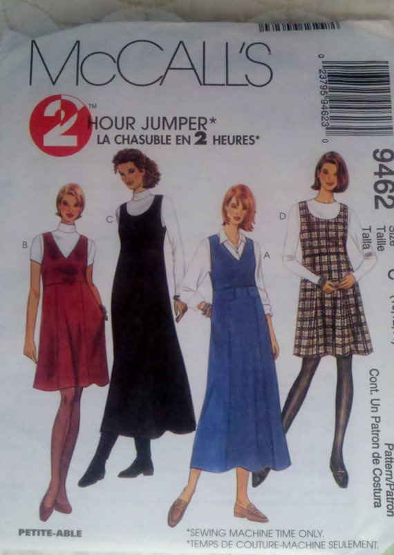 f15b87ee1ad7 Womens Sewing Pattern Jumper in Two Lengths McCall s 9462 Size 10-12-14  Bust 32.5-34-36