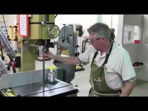 """This video shows the newly approved technique for cleaning the blades on the Powermatic and Laguna 18"""" bandsaws."""