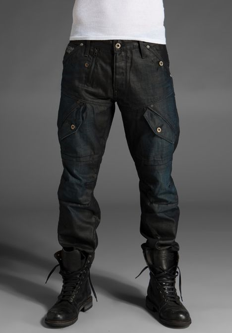 ::: Nice Men's Look : Combat Boots : Simple + Clean :::- denim is real as fuck.