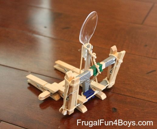 How To Make A Trebuchet From Plastic Spoons For Kids