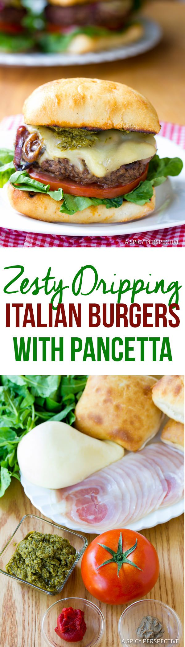 Drool-Worthy Zesty Italian Burgers | ASpicyPerspective.com