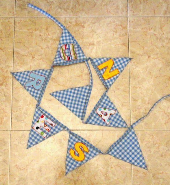 El taller de naid letras telas banderines - El taller de pinero ...