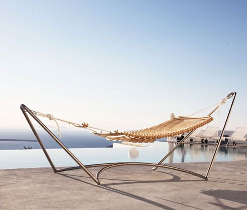 La Seora Hammock, beautifully designed and would work perfect under some trees in the yard.: Furniture Outdoor, Open When, Outdoor Furniture, Side Pocket, Plywood Beams, Adjustable Footrest, Seora Hammock