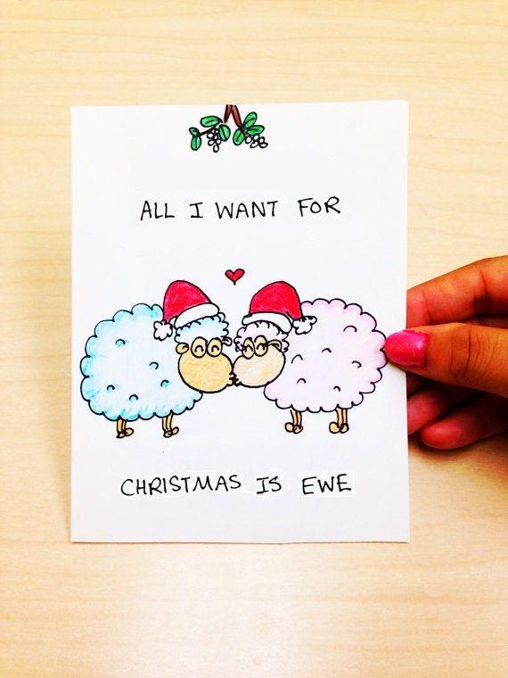 funny christmas card cute christmas card by lovencreativity