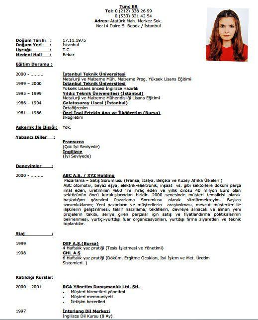 Akademik Özgeçmiş Örnekleri | CV Rehberi