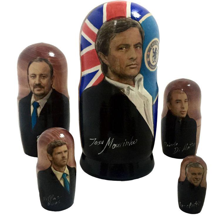 Jose Mourinho Chelsea FC managers FAMOUS Matryoshka russian doll stacking 5pc  7  | eBay
