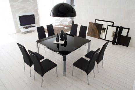 OCCASIONE CALLIGARIS solo fino al 15/09/2014 Tavolo Baron 160 all.struttura cromata vetro caffè + 6 sedie Easy rig. cuoio caffè solo € 1.500,00 iva compresa (Prezzo di listino iva compresa € 2,759,00)