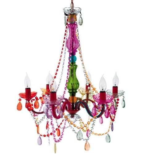 I've had my eye on this for some time now!: Decor, Lights, Gypsy Chandeliers, Ideas, Colors Chandeliers, Multi Colors, Girls Room, House, Products