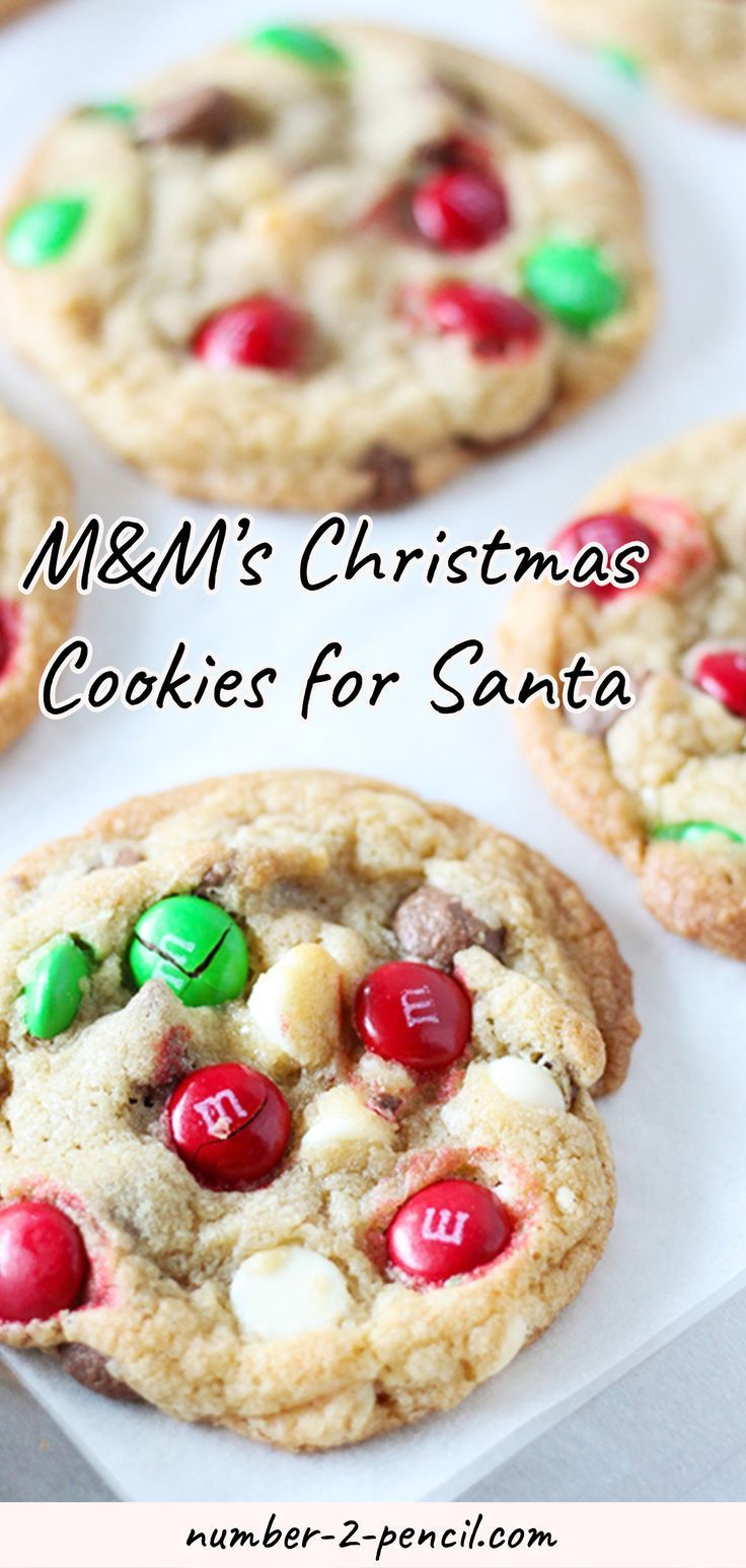 M M S Christmas Cookies For Santa