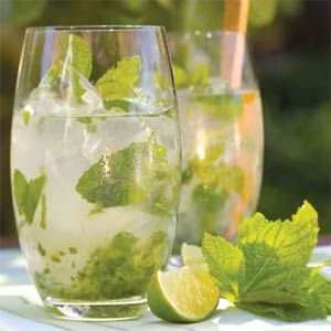 Ingredients. 10 fresh mint leaves. 1/2 lime, cut into 4 wedges. 2 tablespoons white sugar, or to taste. 1 cup ice cubes. 1 1/2 fluid ounces white rum. 1/2 cup club soda.