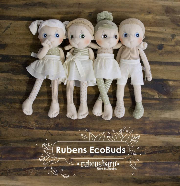 Say hello to EcoBuds, Rubens Barn's first doll with outer fabric in  soft organic cotton! EcoBuds love holding hands and exploring, they are nature friendly and would like to be your friend too! Just like all dolls from Rubens Barn, EcoBuds are Swedish designed, handmade and of the highest quality. All with happy unique charact