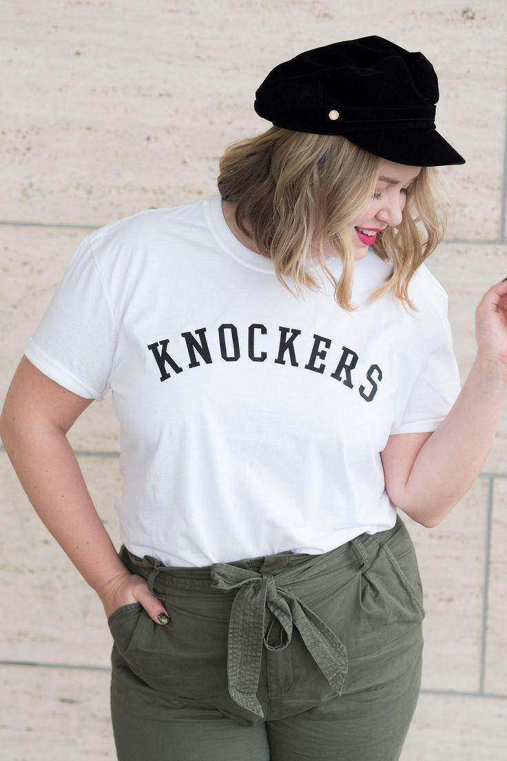 Knockers tit-tee, baker boy hat & khaki trousers   Outfit   Pitsiniekka