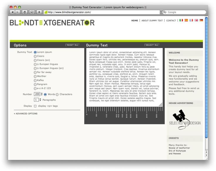 Lorem Ipsum Generator for Web Designers (With images