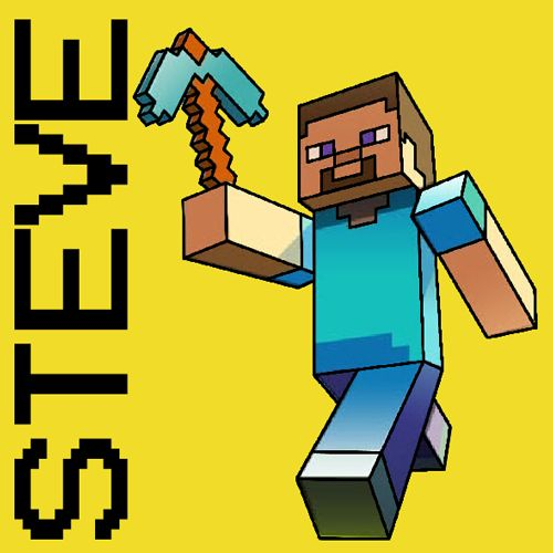 How to Draw Steve with a Pickaxe from Minecraft with Easy Step by Step Drawing Tutorial