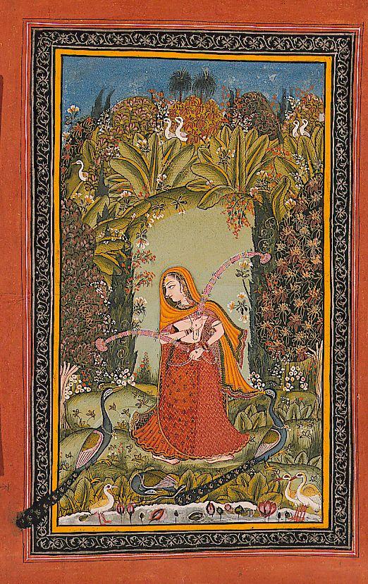 Gauri Ragini of Malkos. Ragamala ca. 1720. SDMA