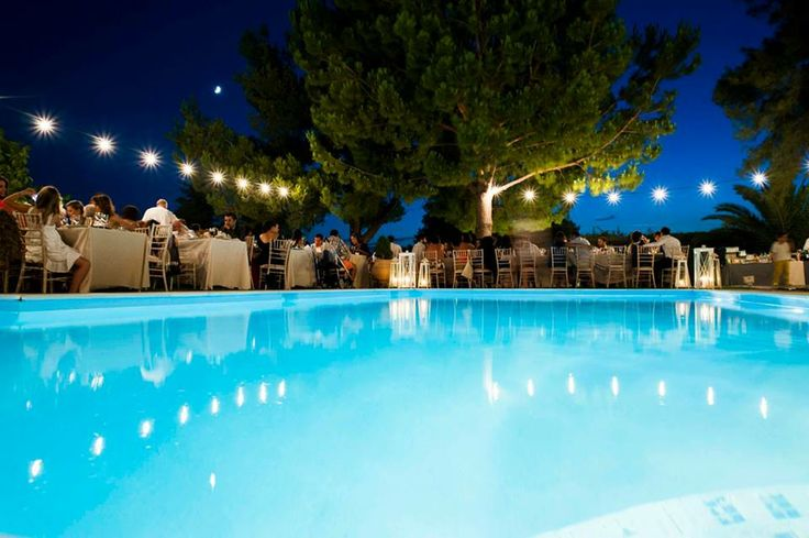 Pool wedding party   Keyhole View: Inspired by a Greek fest