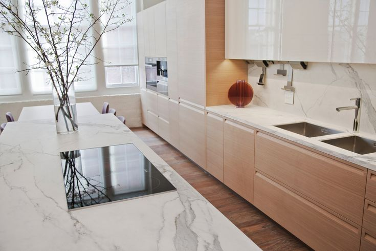 Kitchen countertop in Estatuario #Neolith