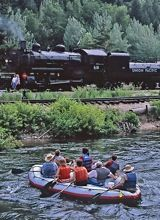Rafting and Train Ride on Provo River with High Country and the Heber Valley Historic Railroad near Park City Utah
