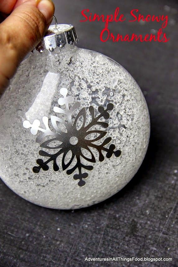 Simple Snowy Ornaments l Adventures in all things food