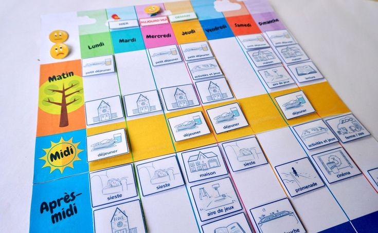 Les enfants ont souvent du mal à se repérer dans le temps. Aide-les en imprimant ce semainier coloré et ses étiquettes.