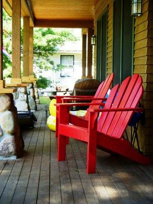 Painting A Wooden Adirondack Chair