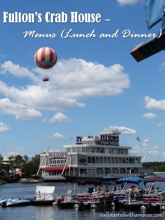 Fulton's Crab House Menu #disney #disneyworld #disneydining