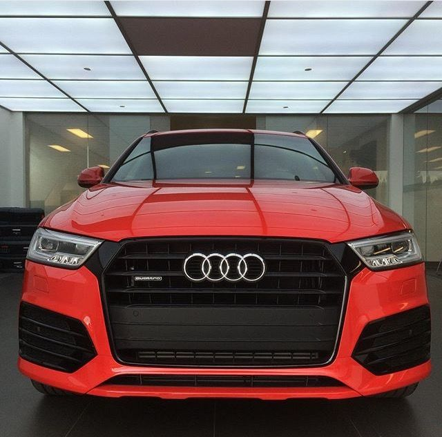 Look at the new & updated #2016 #Q3 here at #GlenmoreAudi! This bright #MisanoRed colour is absolutely gorgeous!! #red #audi #Quattro #SLine #yyc