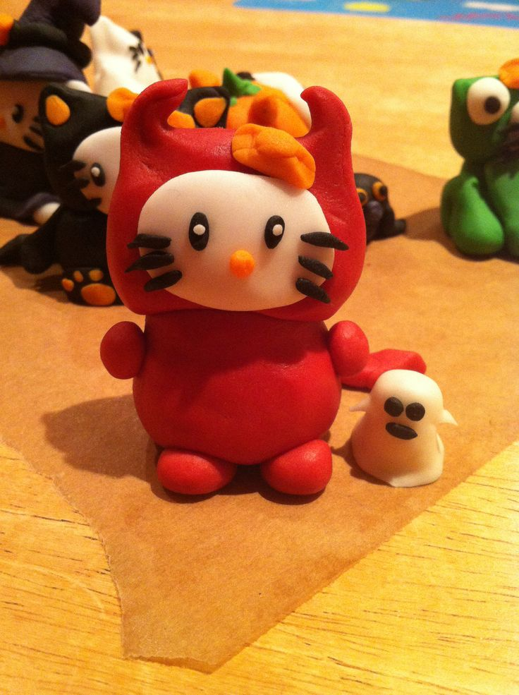 Step twelve: devil hello kitty in time for halloween trick or treating