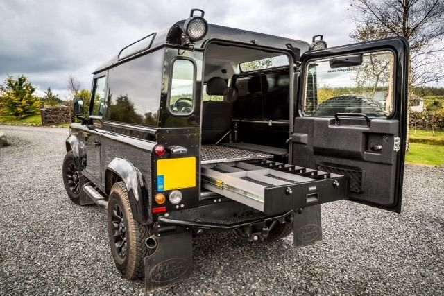 TransLock TL4 Secure Storage Unit in Land Rover Defender - perfect for shooting! www.transk9.com