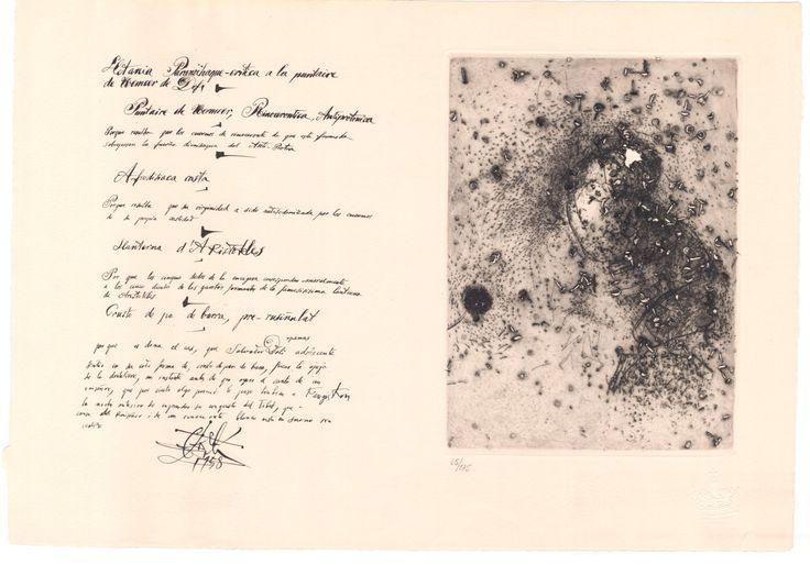 Salvador Dalí - Puntaire de Vermeer (La Dentellière) Wvz. Field 58-1 - Michler/Löpsinger Nr. 65 | OriginalGrafik.com