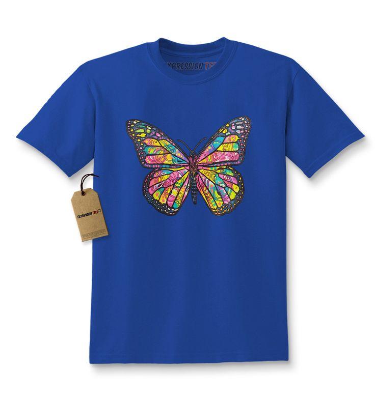 Neon Butterfly Kids T-shirt