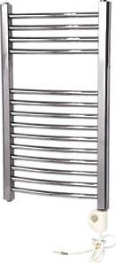 Flomasta Curved Thermostatic Towel Radiator Electrical installation only. Element included. Chrome-plated finish. Radiator, air vent, plug, wall support and fixings. http://www.comparestoreprices.co.uk/january-2017-9/flomasta-curved-thermostatic-towel-radiator.asp