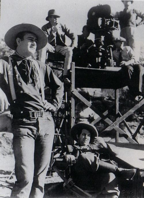 On the set of STAGECOACH.