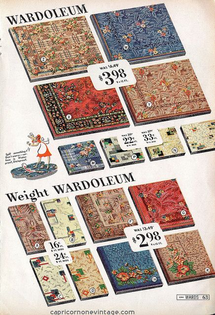 Montgomery ward great spring sale 1941 catalog for Linoleum flooring for sale