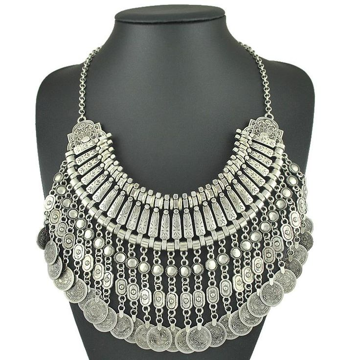 just Came In: Retro Metal Carvi...  Check it out  http://familiar-territory-store.myshopify.com/products/gypsy-ethnic-boho-necklaces-retro-metal-carving-coins-vintage-gold-and-silver-plated-statement-coin-necklaces-for-women-jewelry?utm_campaign=social_autopilot&utm_source=pin&utm_medium=pin