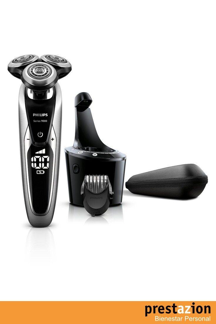 philips s9711 32 afeitadora con accesorio para barba color negro y plata