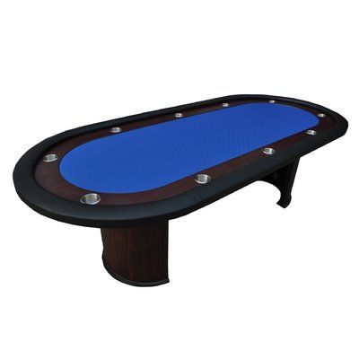 """IDSOnlineCorp 96"""" Professional Texas Hold'em Casino Poker Table Color: Blue"""