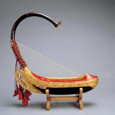 Konghou. Ancient Chinese harp.