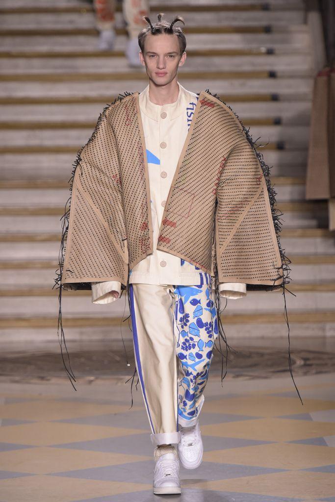 Bethany Williams London College of Fashion MA16 Men's Fall 2016 [Photo: Giovanni Giannoni]