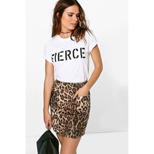 Boohoo Mischa Textured Woven Leopard A Line Mini Skirt ($10) ❤ liked on Polyvore featuring skirts, mini skirts, tan, white a line skirt, white pleated skirt, maxi skirts, pleated maxi skirt and a line mini skirt