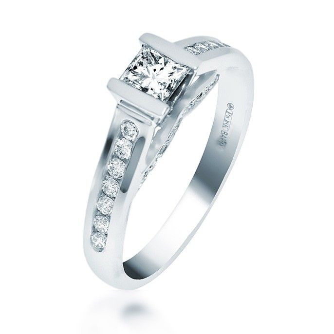 Maple Leaf Diamond Engagement Ring (74535)