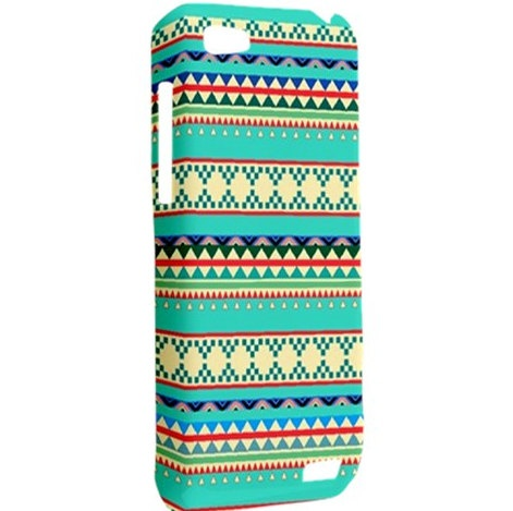HTC One V Case Tribal Geometric Aztec Pattern Hardshell Case Cover HTC One V Case Geek Aztec Case