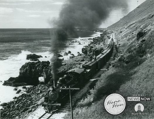 Oahu has never had a paved road around its entire perimeter, but Kaena Point was once traveled by the trains of the Oahu Railway & Land Co., seen here in 1946. Train service ended in 1947, and today only hikers may visit.  (Image: Bishop Museum / Kent Cochrane) Hawaii News Now