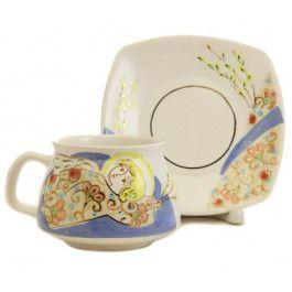 Order here: http://catalog.obitel-minsk.com/guardian-angel-cup-saucer-set-km-155-1-1-10.html?&___store=default  #christmastime #gift #souvenir #present #ceramic #clay #handmade #teaset #home #tea #warmly #cup #saucer #pottery