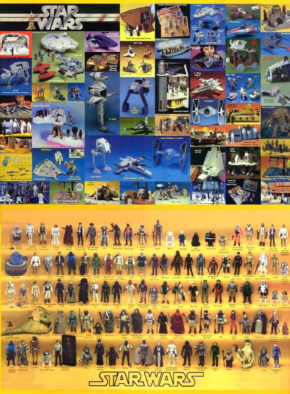 This picture pretty much sums up my childhood. I was obsessed with Star Wars (as I still am today) and probably had every toy in this pic. Too bad I can't find them all now - only bits and pieces.