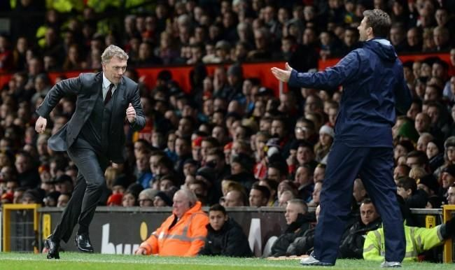 David Moyes and Spurs' Tim Sherwood, on 1st January 2014